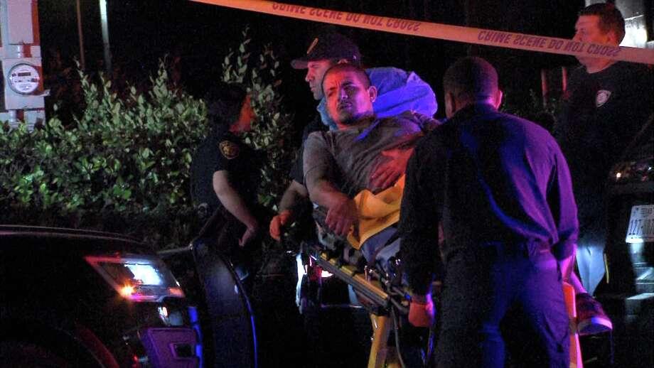Officers responded to the shooting around 11:45 p.m. on Sunday, March 19, 2017, in the 2300 block of Goliad Road, where they found the 28-year-old victim with a gunshot would in his hip. Photo: Ken Branca