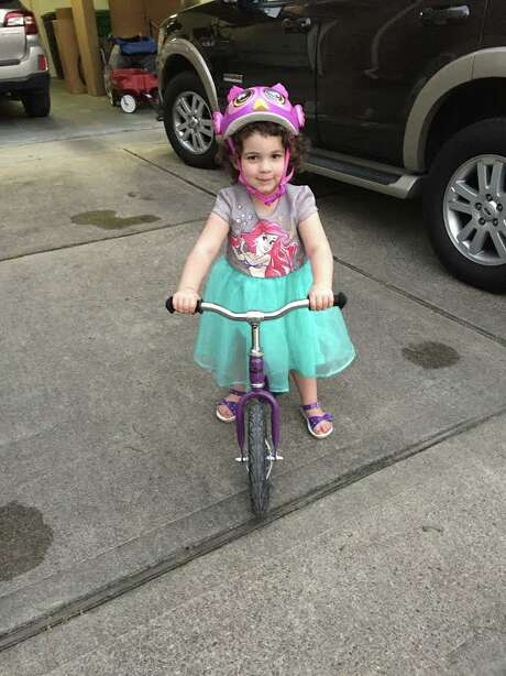 Iris on her bike: With her hearing aids, she's able to detect danger. Photo: Courtesy Stephanie Wittels Wachs