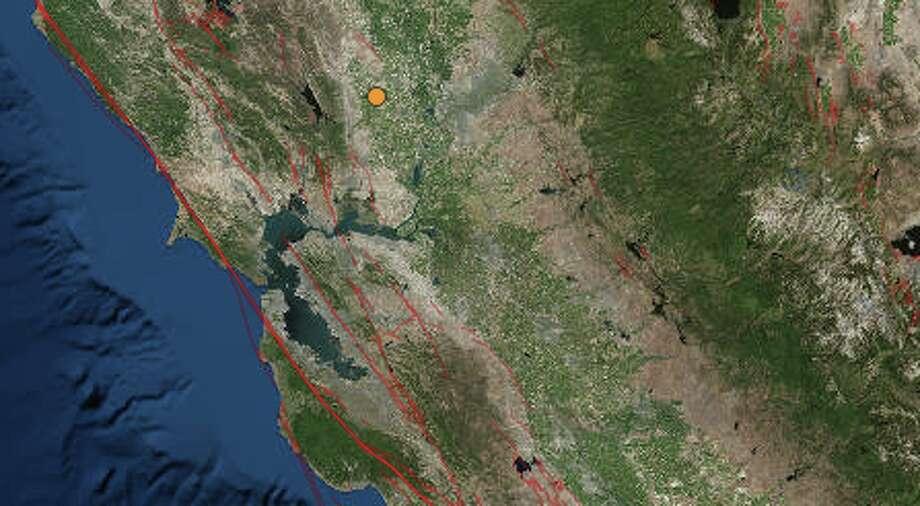 A 2.7-magnitude earthquake struck outside of Sacramento on Sunday, March 19, 2017. Photo: USGS
