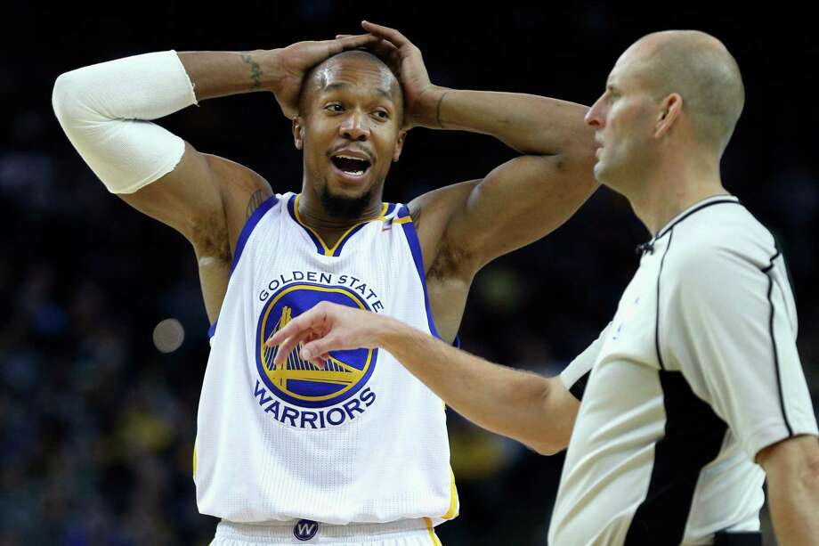 Golden State Warriors forward David West disputes a call against him during the second half against the Dallas Mavericks at Oracle Arena on Dec. 30, 2016 in Oakland, Calif. Photo: Santiago Mejia /San Francisco Chronicle / ONLINE_YES