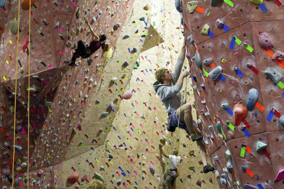 Westport, Conn.-based Tengram Capital Partners has invested in Earth Treks Climbing & Fitness, which plans to expand its gyms equipped with climbing walls and other fitness programs not unlike the Mission Cliffs facility in San Francisco, pictured. Photo: Laura Morton / Special To The Chronicle / ONLINE_YES