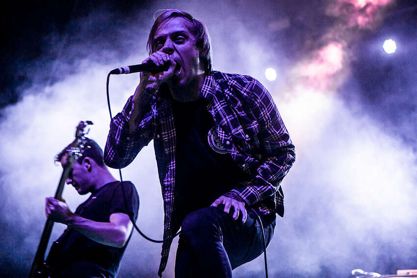 Architects front-man Sam Carter is a world-class screamer who can just about carry a melody whil torturing his larynx. His band does something similar on songs such as