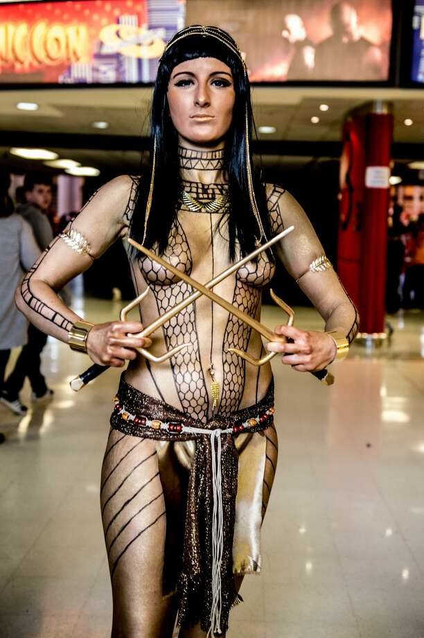 A cosplayer in character as Anck-su-namun the Pharaoh's mistress from The Mummy during the MCM Birmingham Comic Con at NEC Arena on March 19, 2017 in Birmingham, England. Photo: Ollie Millington/Getty Images