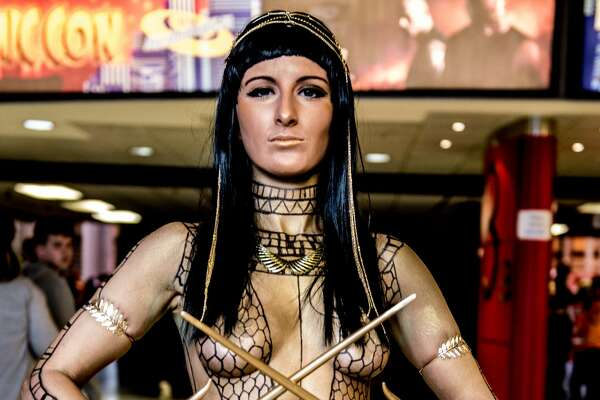 BIRMINGHAM, ENGLAND - MARCH 19:  A cosplayer in character as Anck-su-namun the Pharaoh's mistress from The Mummy during the MCM Birmingham Comic Con at NEC Arena on March 19, 2017 in Birmingham, England.  (Photo by Ollie Millington/Getty Images)