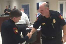 Officer Samantha Smith was recently honored for her efforts in keeping community members safe.