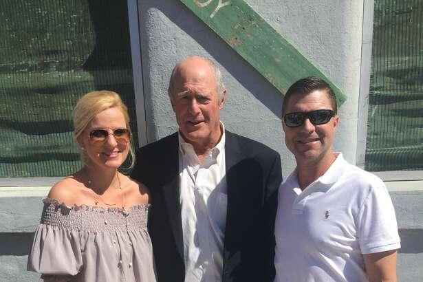 Governor for a day: Jennifer Chase, from left, Sen. Kel Seliger and Clayton Black