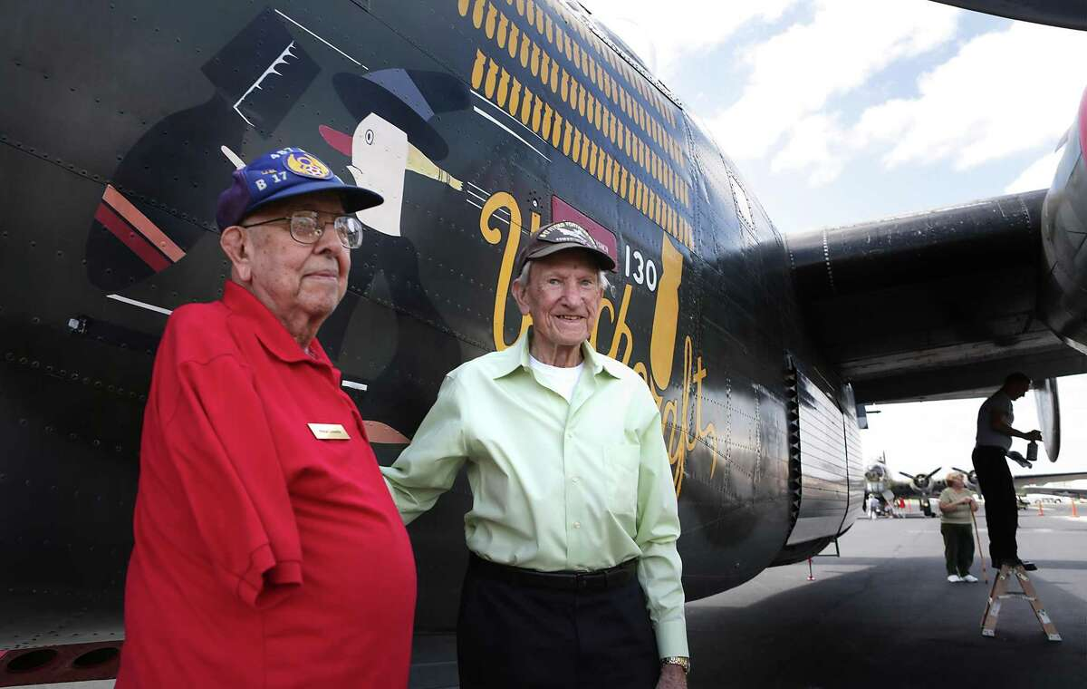 Vince Losada, left, was identified as one of the victims in a plane crash in Fredericksburg on Saturday afternoon that killed two. Losada was a World War II veteran.