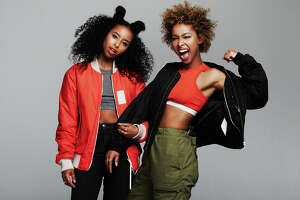 Sisters Iman and Siham Hashi make up the pop-duo Faarrow. Much of their music is about being refugees from Somalia.