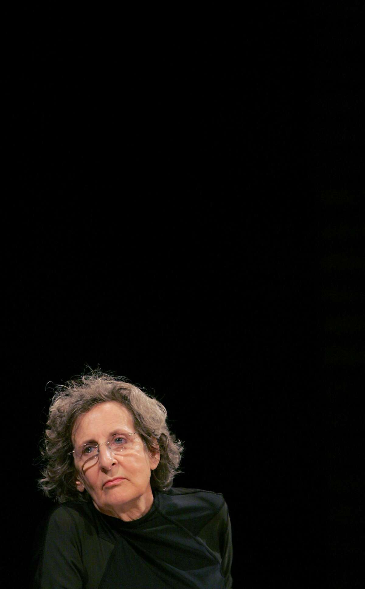 (FILES) This file photo taken on January 05, 2006 shows US post modern dance choregrapher Trisha Brown, at a press conference, in Paris. The Choregrapher died on March 18, 2017 it was announced on the Twitter account of her Dance company on March 20, 2017. / AFP PHOTO / JACQUES DEMARTHONJACQUES DEMARTHON/AFP/Getty Images