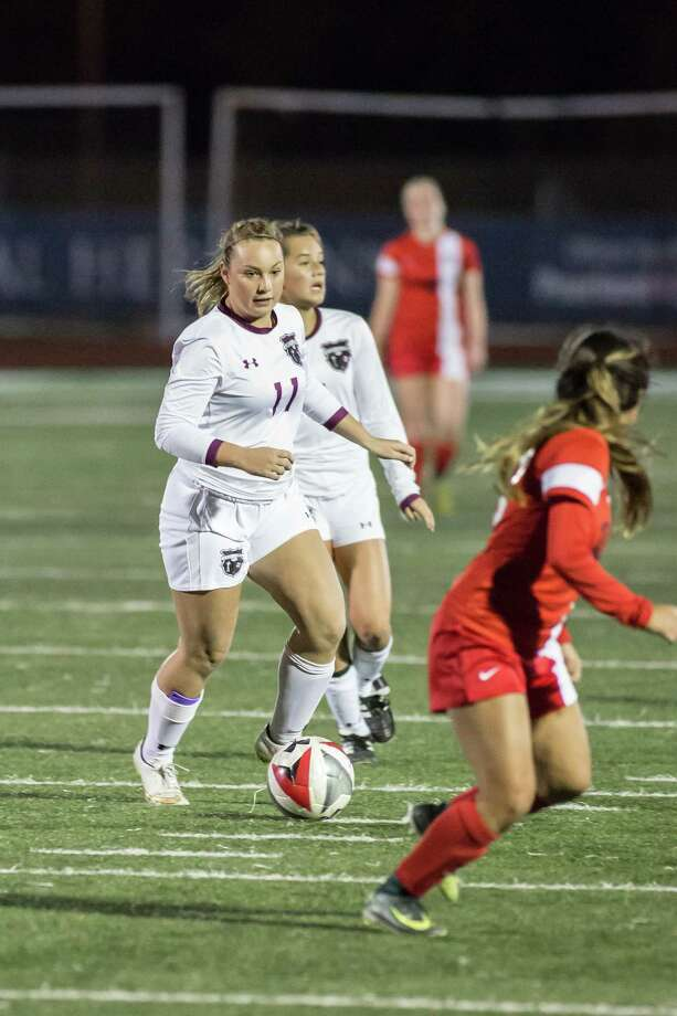 Pearland's Brittany Romeo leads the team in scoring as it heads into the Class 6A girls' soccer playoffs Photo: Lloyd Hendricks