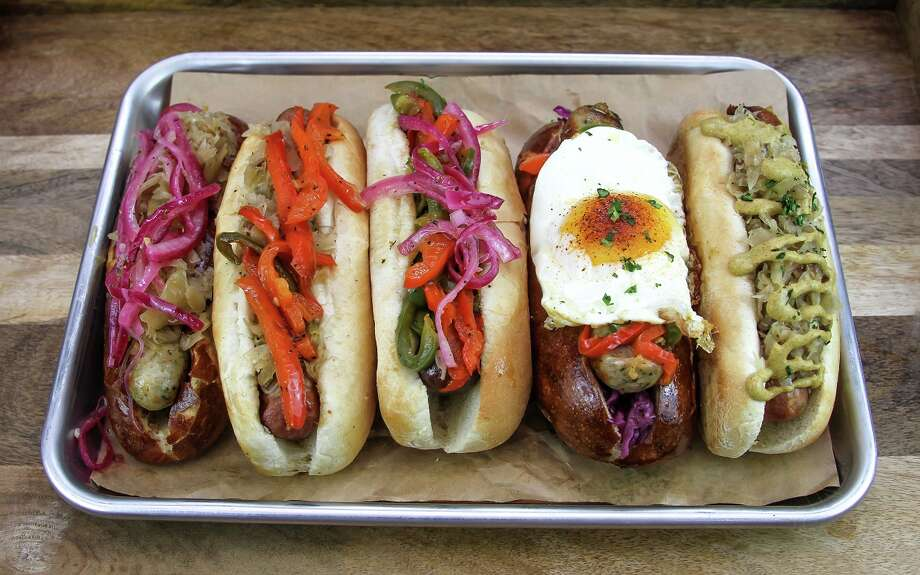 A variety of sausages from King's Bierhaus to open soon at 2044 E. T.C. Jester Photo: King's Bierhaus