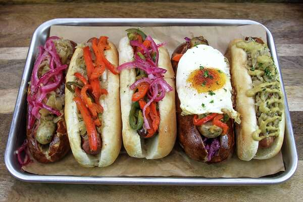 A variety of sausages from King's Bierhaus to open soon at 2044 E. T.C. Jester