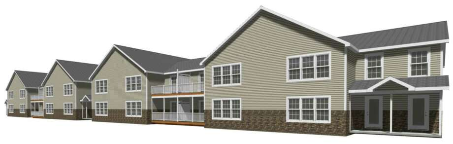 Rendering of one of the 20-unit buildings at Maddalone Schenectady, a proposed 80 unit development on Van Vranken Ave. in Schenectady, N.Y. (Provided)