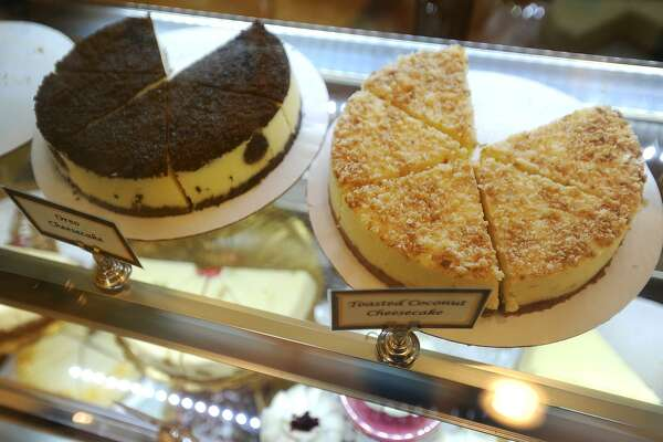 A case full of Sandra Williams' homemade cheesecake varieties at La Signature Cheesecakes in the Arcade Mall at 1001 Main Street in downtown Bridgeport, Conn. on Thursday, March 16, 2017.