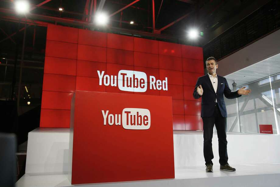"Robert Kyncl, YouTube Chief Business Officer, speaks at a 2015 event. YouTube says it is looking into why some gay-themed content is being blocked to those browsing YouTube by its ""restricted"" setting. Photo: Associated Press /File Photo / FR161655 AP"