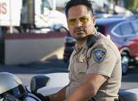 """This image released by Warner Bros. Pictures shows Michael Pena in a scene from, """"CHiPS."""" (Peter Iovino/Warner Bros via AP)"""