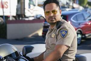 "This image released by Warner Bros. Pictures shows Michael Pena in a scene from, ""CHiPS."" (Peter Iovino/Warner Bros via AP)"