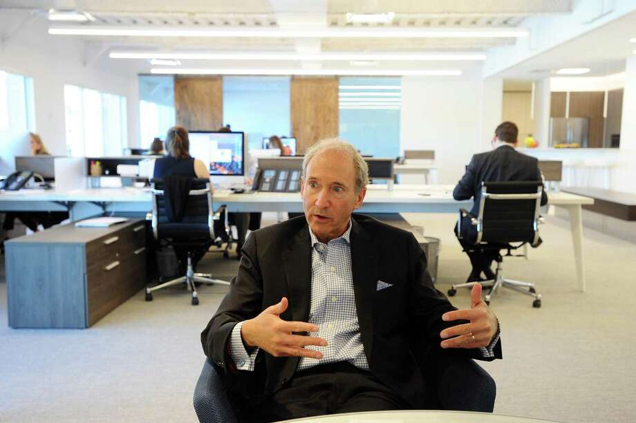 MDKA President Michael Kleinberg discusses the decision to move offices from Southfield Ave. to Shippan Landing in Stamford, Conn. Photo: Michael Cummo / Hearst Connecticut Media / Stamford Advocate