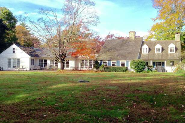 This rear view of the historically significant house at 188 Cross Highway distinctly shows the three architectural periods it represents from its 18th century center structure to its colonial revival addition to the east and the mid-century modern addition on the west.