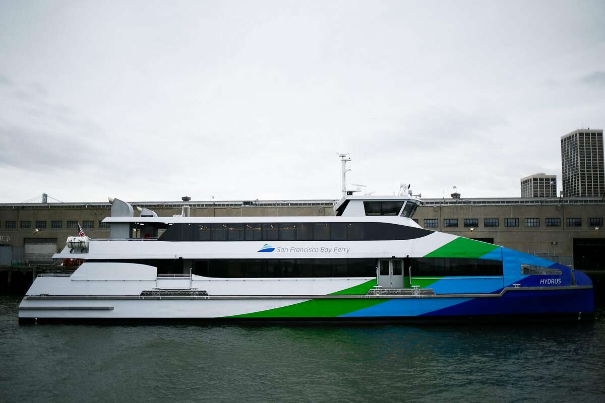 The Hydrus, the first of seven new vessels to join the SF Bay Ferry fleet, photographed at Pier 9, The Embarcadero in San Francisco, Calif. Monday, March 20, 2017.
