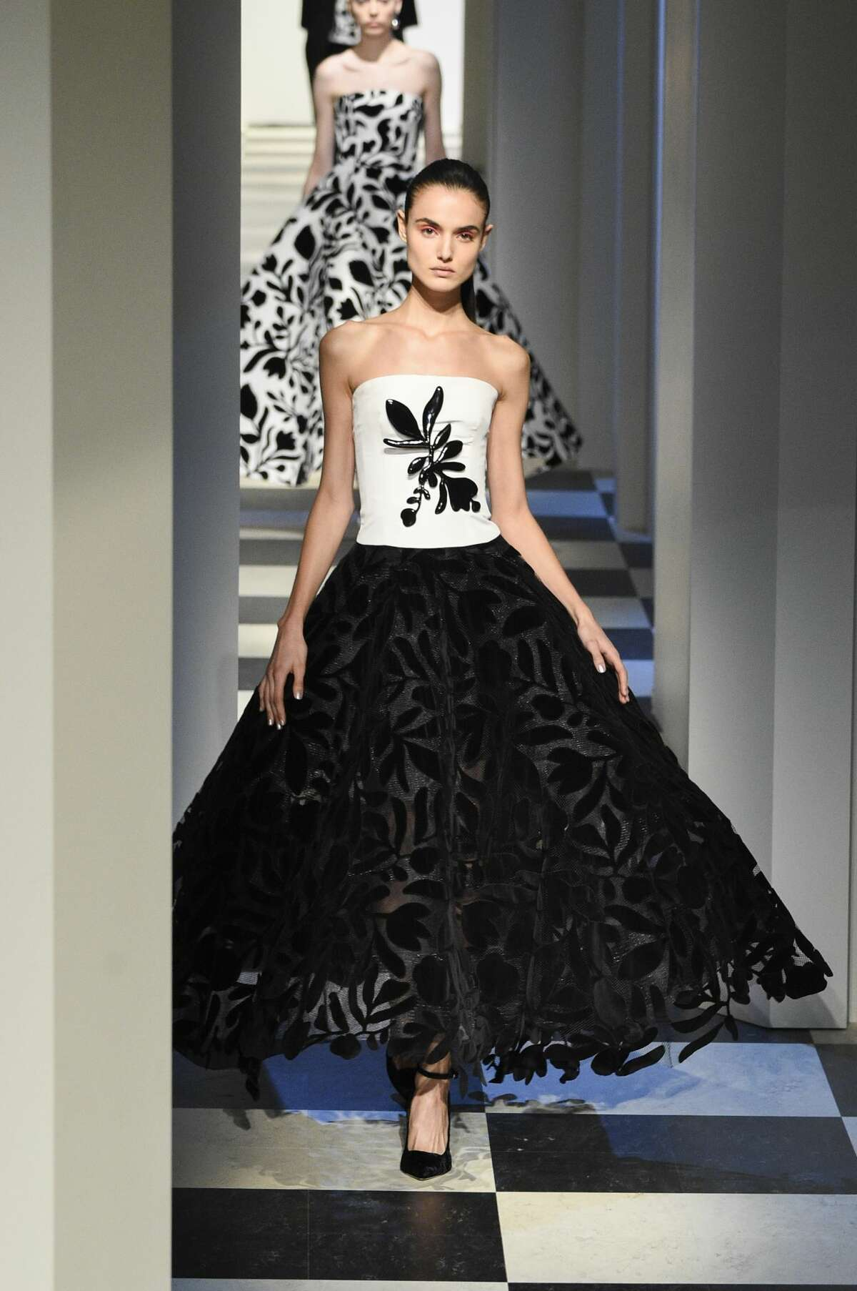 A Model walk the runway at the Oscar de La Renta fashion show during February 2017 New York Fashion Week: The Shows at Gallery 1, Skylight Clarkson Sq on February 13, 2017 in New York City.