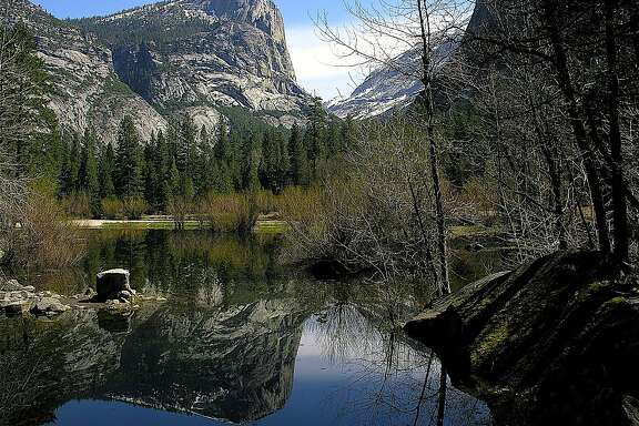 Mirror Lake, located at the foot of Half Dome, and shown beyond to Mount Watkins this week at Yosemite National Park.