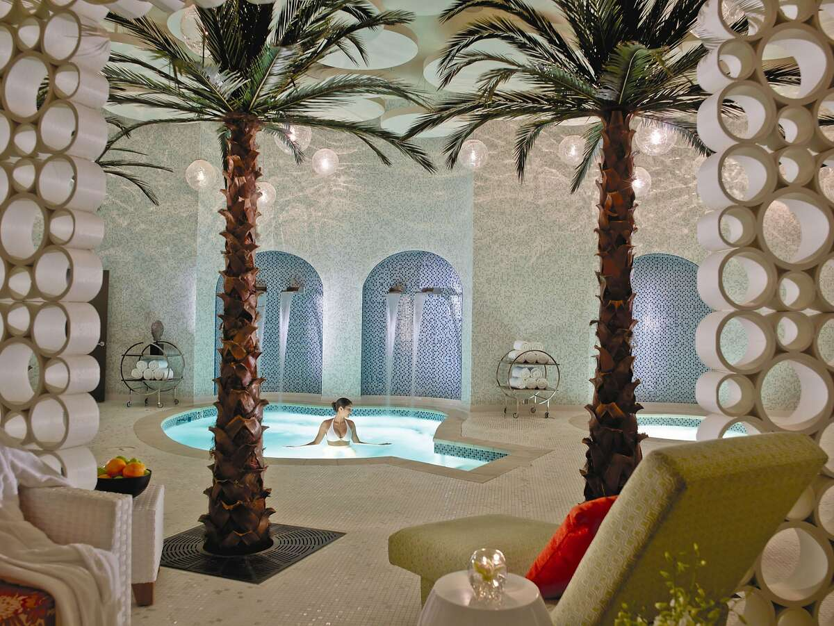 The newly transformed Riviera Palm Springs offers watsu (water therapy) massage in its Azure Spa.