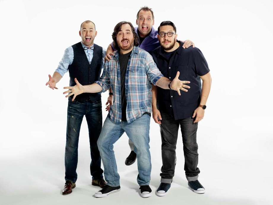 The Impractical Jokers are James Murray, from left, Brian Quinn, Joe Gatto and Sal Vulcano. Photo: Impractical Jokers / TM & (c) Turner Entertainment Networks. A Time Warner Company. All Rights Reserved.