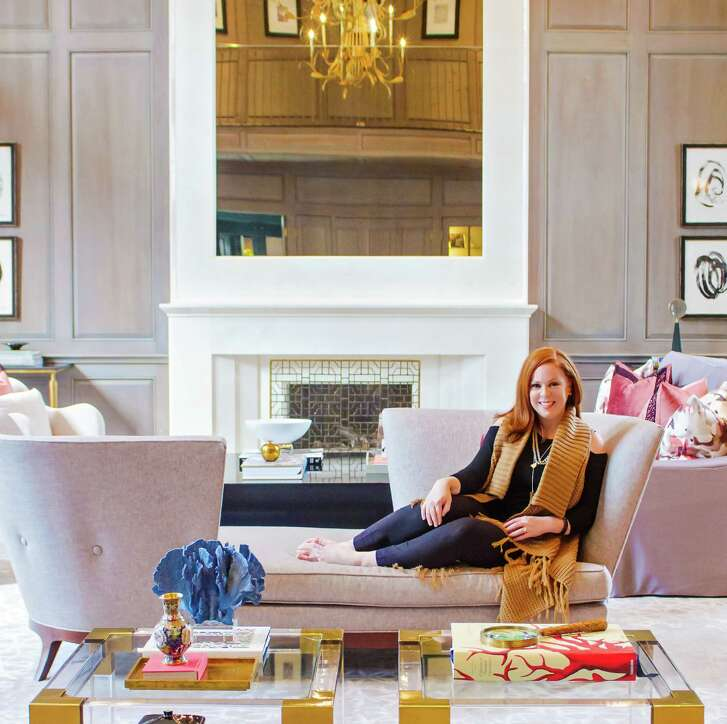 Portrait of Laura Umansky, owner of Laura U Interior Designs and House & Town.
