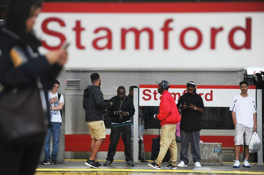 Commuters wait for the train to Grand Central Station at the Stamford train station in downtown Stamford, Conn. on Monday, September 19, 2016. Photo: Michael Cummo / Hearst Connecticut Media / Stamford Advocate