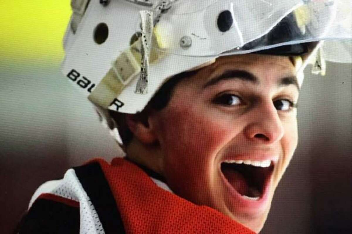 Fairfield co-op goaltender Charlie Capalbo was just diagnosed with cancer. His coach, Carl Larouche, says