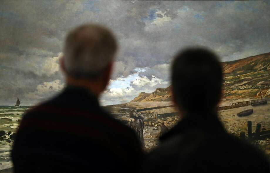 "Viewers attend the Fine Arts Museums of San Francisco's ""Monet: The Early Years"" exhibit at the Legion of Honor. Photo: Scott Strazzante, The Chronicle"