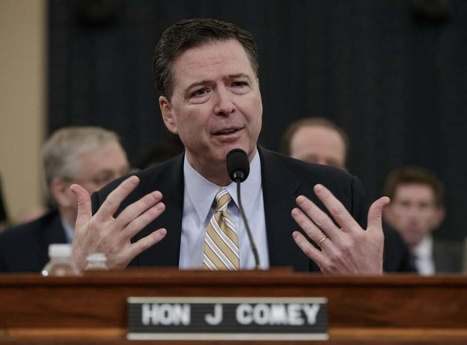 FBI Director James Comey testifies on Capitol Hill in Washington, Monday, March 20, 2017, before the House Intelligence Committee hearing on allegations of Russian interference in the 2016 U.S. presidential election. (AP Photo/J. Scott Applewhite) Photo: J. Scott Applewhite, Associated Press