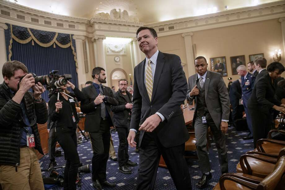 FBI Director James Comey takes a break after three hours of testifying on Capitol Hill in Washington, Monday, March 20, 2017, before the House Intelligence Committee hearing on allegations of Russian interference in the 2016 U.S. presidential election.  (AP Photo/J. Scott Applewhite) Photo: J. Scott Applewhite, Associated Press