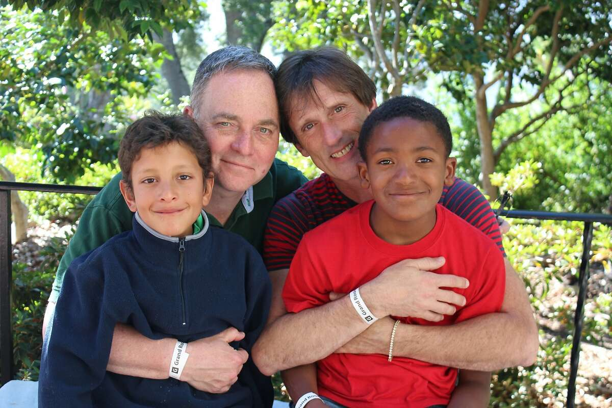 Aidan (from left), Kevin, Brian and Zane Fisher-Paulson.