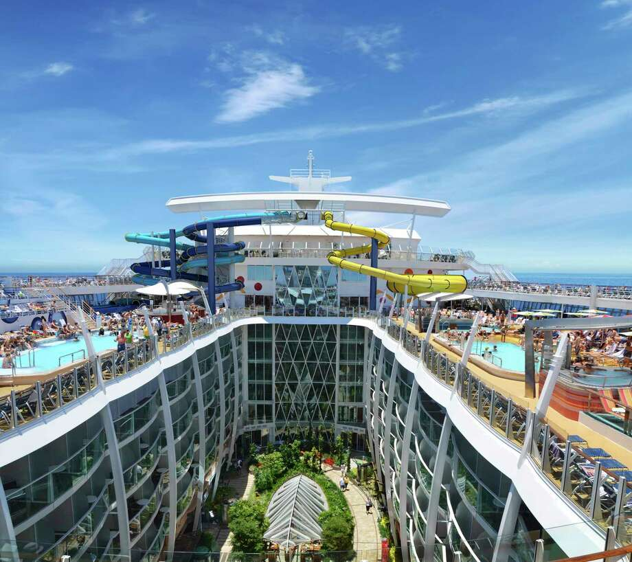 Royal Caribbean's 5,497-passenger Harmony of the Seas offers the tallest water slide at sea - the 10-story Ultimate Abyss - as well as Splashaway Bay and seven onboard neighborhoods Photo: ROYAL CARIBBEAN INTERNATIONAL, HO / ROYAL CARIBBEAN INTERNATIONAL