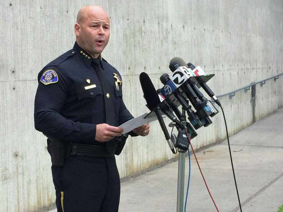 At a news conference Monday, Chief Eddie Garcia of the San Jose Police Department said that three officers who critically shot a naked San Jose man Friday remained on paid administrative leave Monday, as the suspect remained in critical condition at a local hospital. Photo: The Chronicle / Jenna Lyons