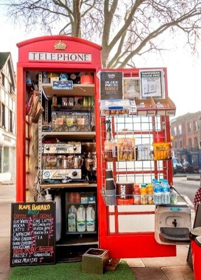 The defunct British phone boxes have found new life as coffee kiosks (such as Kape Barako shop pictured), souvenir stores and work stations with Wi-Fi. Photo: Courtesy Kape Barako
