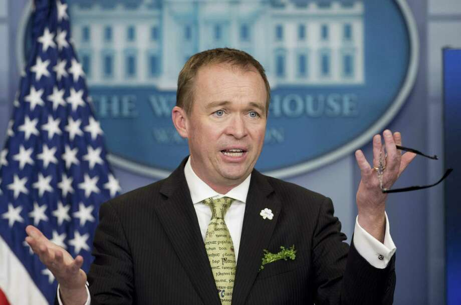 Budget Director Mike Mulvaney has delivered a budget to Congress that is likely dead on arrival. It boosts defense spending at the expense of equally vital programs. Photo: SAUL LOEB /AFP /Getty Images / AFP or licensors