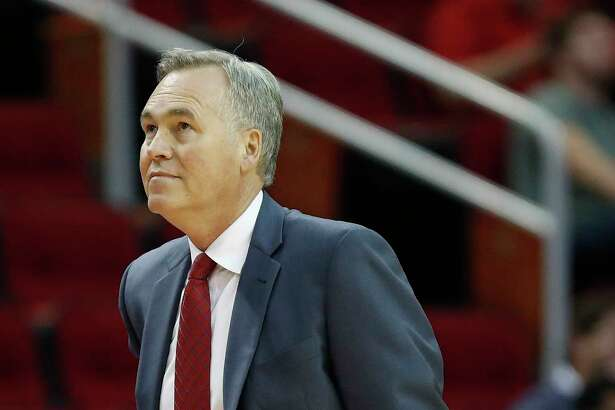 Houston Rockets head coach Mike D'Antoni during the first half of an NBA basketball game, Monday, March 20, 2017, at the Toyota Center, in Houston.