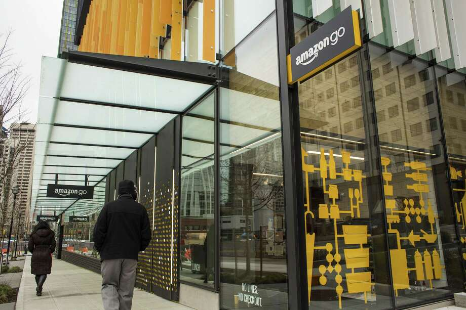 Amazon is testing three brick-and-mortar grocery formats in Seattle - convenience stores that are called Amazon Go. Photo: David Ryder / © 2017 Bloomberg Finance LP