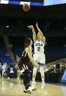 UCLA guard Kari Korver (#2) in actions during the first half of a second-round game in the NCAA women's college basketball tournament between UCLA and Texas A&M, Monday, March 20, 2017, in Los Angeles. (AP Photo/Ringo H.W. Chiu)