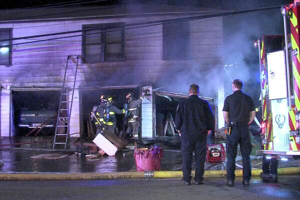 Firefighters responded to a garage fire at a duplex on March 20, 2017, in the 2100 block of Wilson Boulevard.