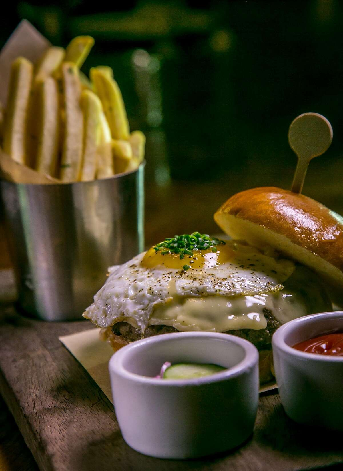 The Tavern Burger at Wayfare Tavern in San Francisco, Calif., is seen on March 20th, 2017.