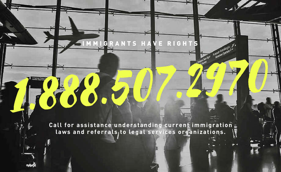 Texas Immigrant Rights Hotline promotional photo.