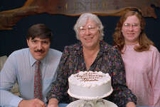 Madalyn Murray O'Hair (center) is seen with her son Jon Murray and granddaughter Robin Murray O'Hair in this undated photo.