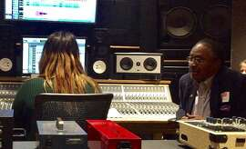 Clarence Jones visits Women's Audio Mission