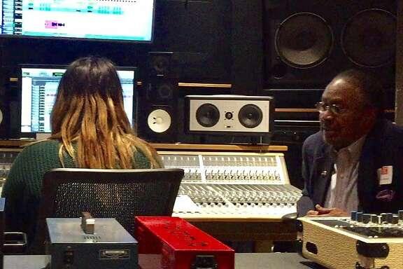 Clarence Jones visits Women's Audio Mission