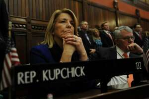 Rep. Brenda Kupchick, R-Fairfield, during opening day of the legislature at the Capitol in Hartford, Conn. on Wednesday, January 4, 2017.