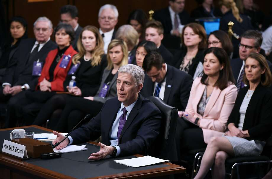 Judge Neil Gorsuch resisted numerous requests from senators to offer opinions on past Supreme Court decisions. Photo: MANDEL NGAN, AFP/Getty Images